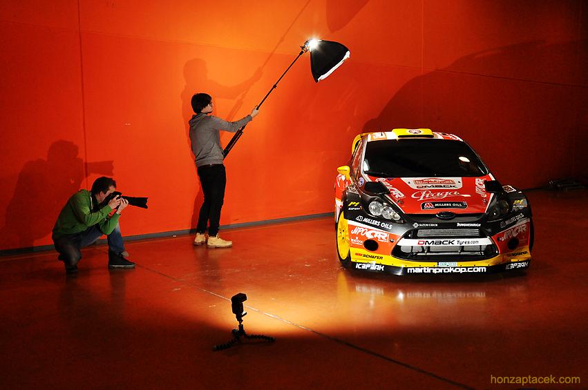 Focení vozu Ford Feista RS WRC JipoCar Teamu