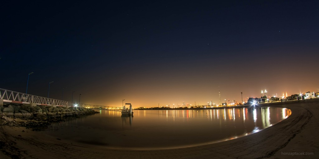 Dubai beach at night